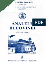 11-1. Analele Bucovinei, An XI, Nr. 1 (2004)