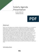vinelli- scholarly agenda
