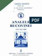 12-1. Analele Bucovinei, An XII, Nr. 1 (2005)