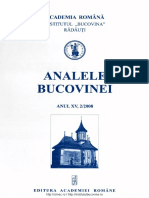 15-2. Analele Bucovinei, An XV, Nr. 2 (2008)
