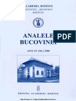 15-1. Analele Bucovinei, An XV, Nr. 1 (2008)
