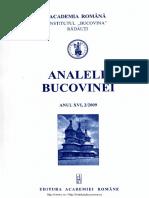 16-2. Analele Bucovinei, An XVI, Nr. 2 (2009)