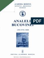 17-1. Analele Bucovinei, An XVII, Nr. 1 (2010)