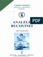 18-2. Analele Bucovinei, An XVIII, Nr. 2 (2011)