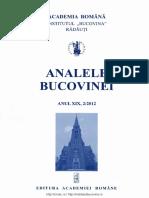 19-2. Analele Bucovinei, an XIX, nr. 2 (2012)