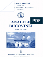 14-2. Analele Bucovinei, An XIV, Nr. 2 (2007)