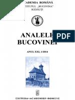 21-1. Analele-Bucovinei, An XX, Nr. 1 (2014)