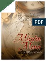 2018 Missions Menu