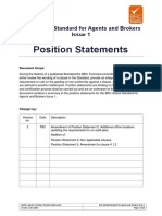BRC Global Standard for Agents and Brokers - Position Statements