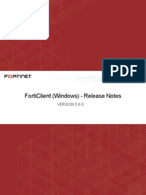 Forticlient 5 6 0 Windows Release Notes | Transport Layer