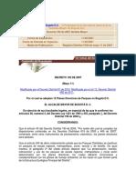 Decreto 192 de 2007