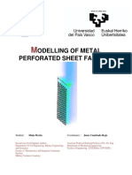 Modelling of Metal Perforated Sheet Facade