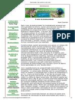 Biodiversidade - Valor Econômico e Valor Social