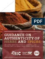 Guidance on Authenticity of Herbs and Spices