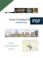 CB3 Essex Crossing School Position Paper (FINAL 6.11.14)