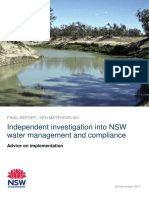 Matthews Final Report - NSW Water Management and Compliance