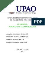 CONFERENCIA LA LIBERTAD  PERSPECTIVAS ECONÓMICAS 2018.docx