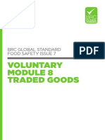BRC Global Standard for Food Safety Issue 7 Voluntary Module 8 Traded Goods UK