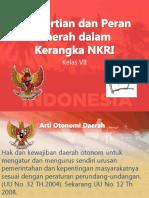 Peran Daerah Dalam Kerangka NKRI