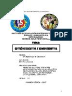 Gestión Educativa y Administrativa Monografia Pedagogico