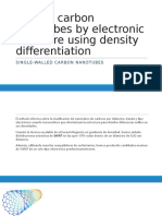 Sorting Carbon Nanotubes by Electronic Structure Using Density