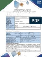 Guía de actividades y rubrica de evaluación Tarea 7- Desarrollar ejercicios de Geometria Analitica, Sumatorias y Productorias-A