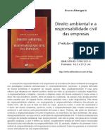 Direito Ambiental e a Responsabilidade Civil Das Empresas Bruno Albergaria