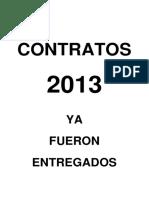 CONTRATOS 2013