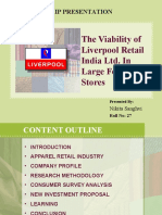 The Viability of Liverpool Retail India Ltd Presentation