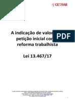 Apostila Indicação de Valores Na Petição Inicial - Definitiva