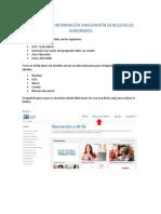 Instructivo e Información Para Emisión Boletas de Honorarios