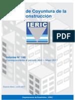 Informe de coyuntura de la industria de la construcción junio de 2017