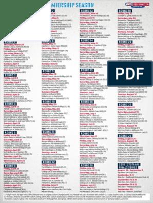 2018-toyota-afl-premiership-season-fixture-pdf | Sports Clubs