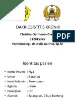 DAKRIOSISTITIS KRONIK giam