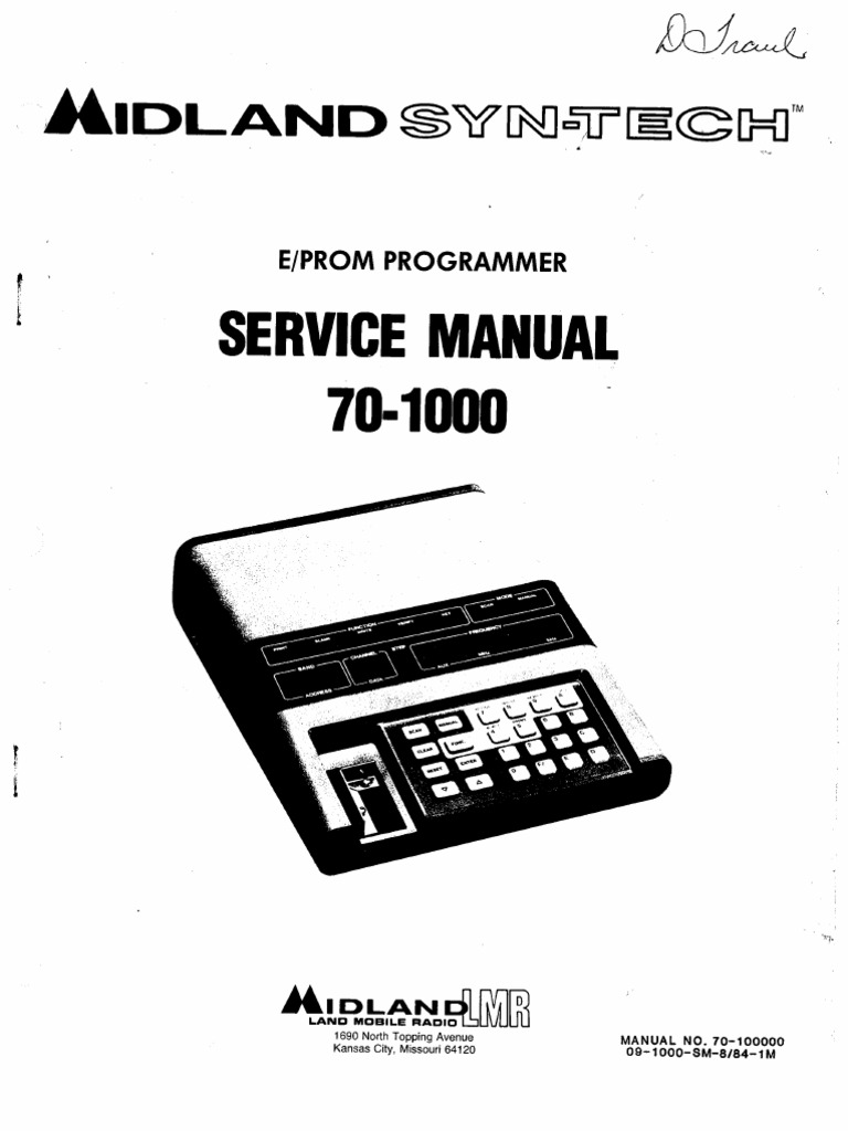 Midland 70-1000 Service Manual