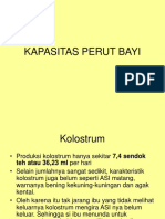 KAPASITAS PERUT BAYI