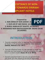 The Acceptance of Non-muslim Towards Syariah-compliant Hotels