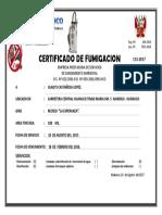 Certificado de Fumigacion Recreo La Esperanza