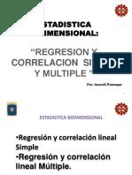 Regresion y Correlacion Lineal Simple y Multiple