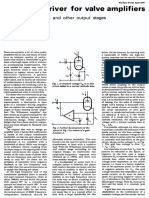 Transistor Driver for Valve Amplifiers