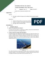Consulta de Energia Solar y Panorama Mundial y Local