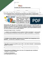 Evaluaciona 6 Basico, Calentamiento Global y Suelo Diciembre 2016