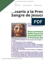 Rosario a La Preciosa Sangre de Jesucristo » Foros de La Virgen María