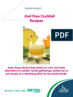 Alcohol Free Mocktails Booklet A5 2016