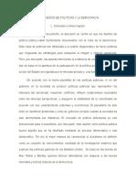Los Diseños de Políticas y La Democracia