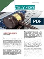 Newsletter Computer Ethics