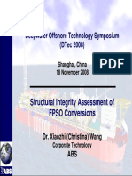 Structural Integrity Assessment of Offshore Conversions - ISE and TSA