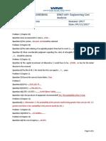 Cost Analysis Practice