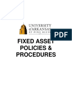 Fixed Assets Procedures