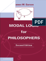 Garson J.W. Modal Logic for Philosophers